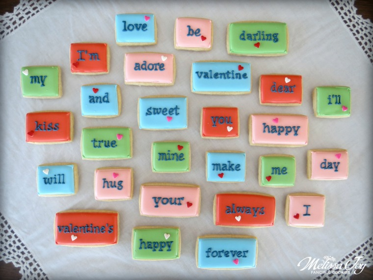 Cookie Poetry Tiles for Valentine's Day by Melissa Joy
