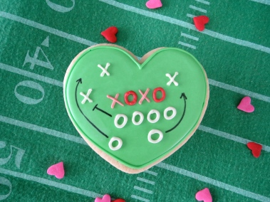 Football Valentine by Melissa Joy Cookies