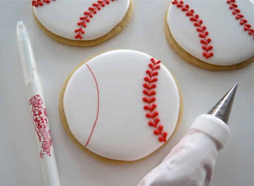 Baseball Valentine Cookie How To