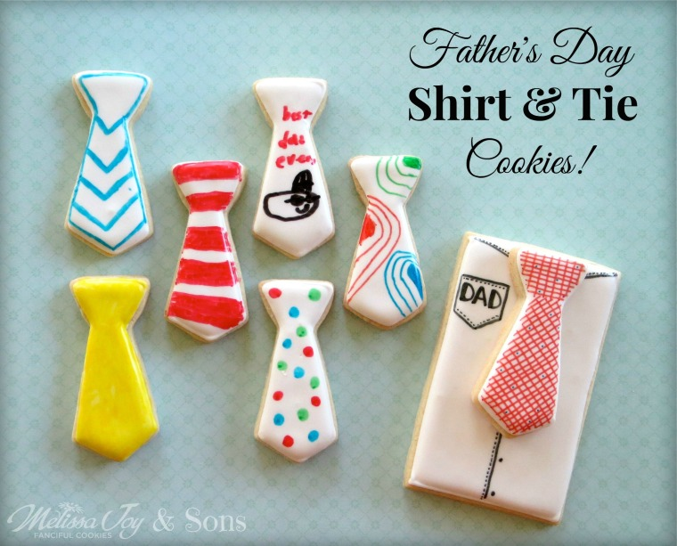 Father's Day Tie Cookies by Melissa Joy Cookies