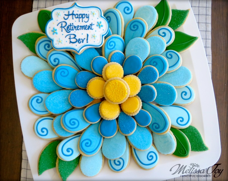 Flower Cookie platter - Retirement Party by Melissa Joy