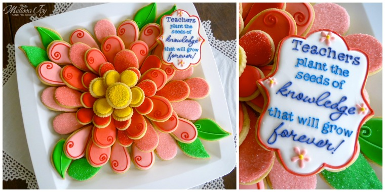 Teacher Appreciation Flower Cookie Platter by Melissa Joy