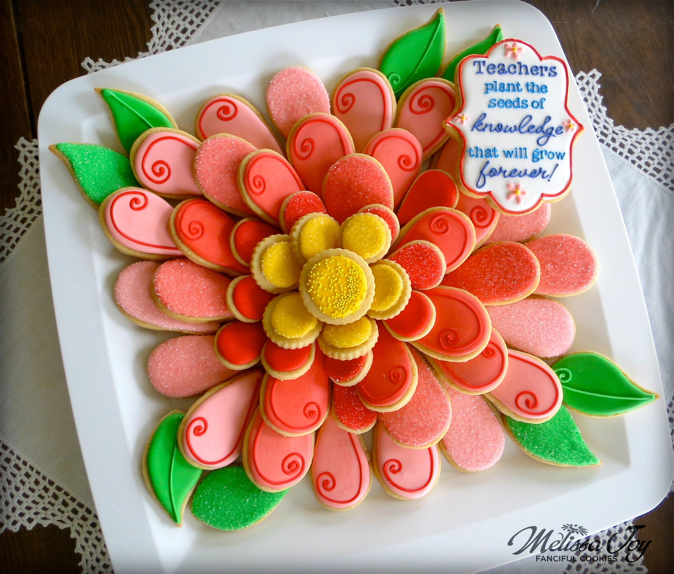 Easy Flower Cookie Platter Melissa Joy Cookies
