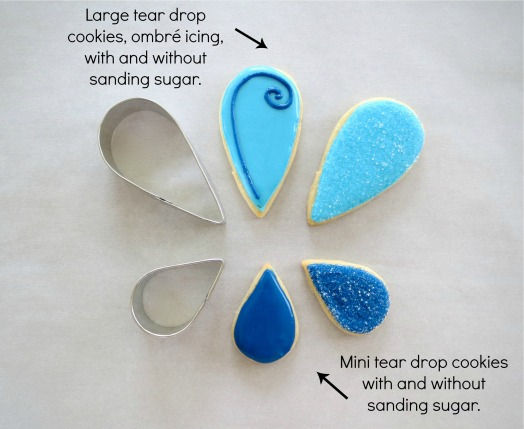 tear drop cookies