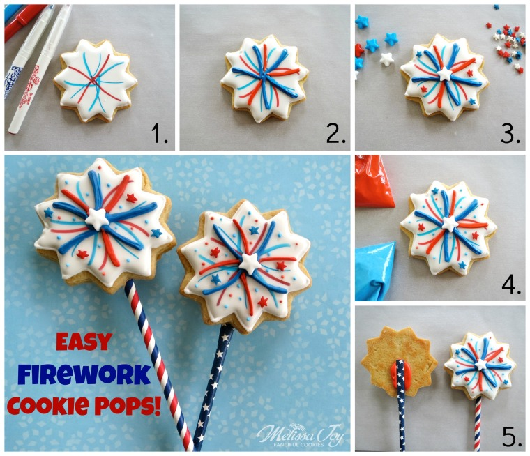 Easy firework cookies by Melissa Joy