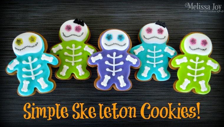 Easy Halloween Skeleton Cookies by Melissa Joy