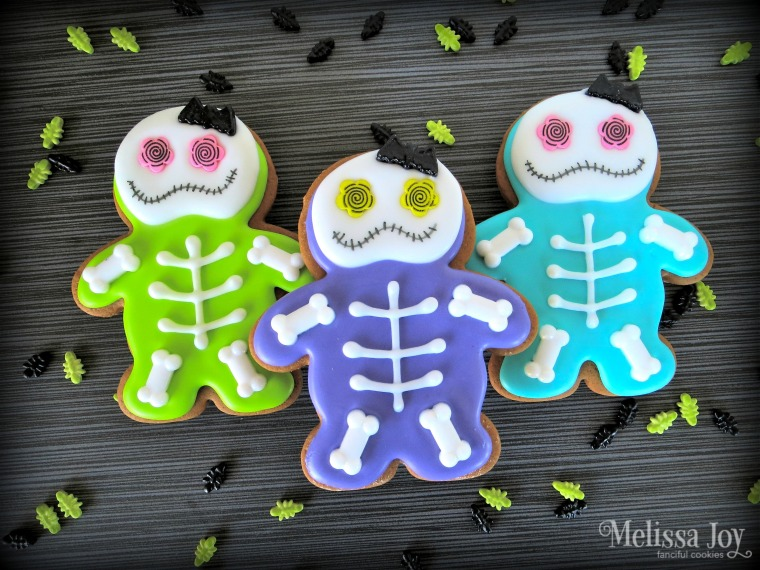 Easy Skeleton Cookies for Halloween by Melissa Joy