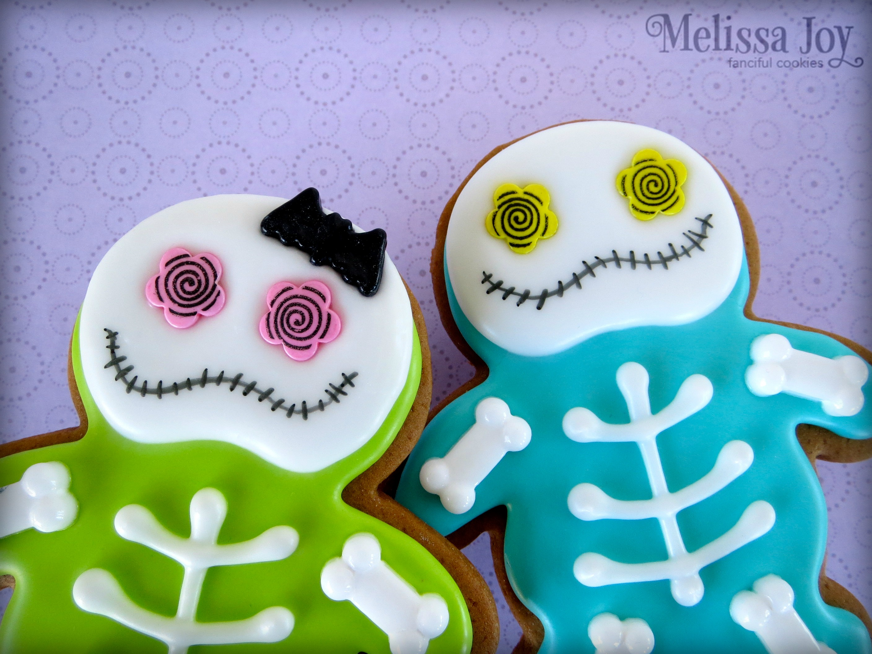 Halloween Themed Baby Shower Cookies.Easy Halloween Skeleton Cookies Melissa Joy Cookies
