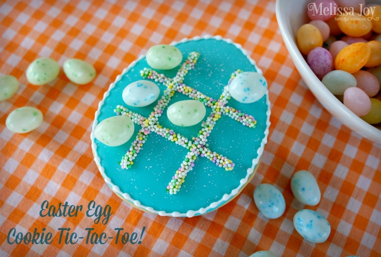 Easter Egg Cookie & Jelly Bean tic tac toe