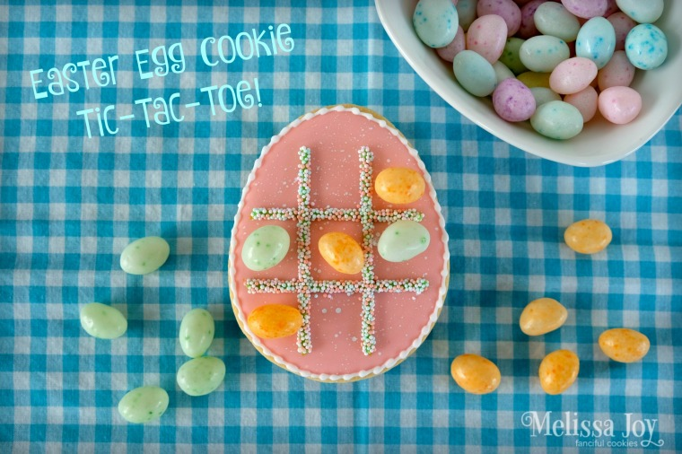 easter egg cookie tic tac toe