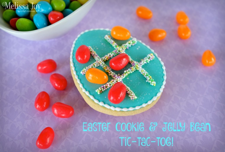 egg cookie tic tac toe
