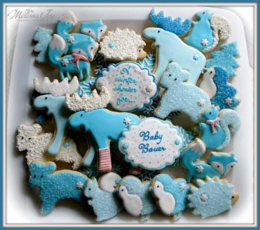 Woodland Baby Shower Cookie Platter