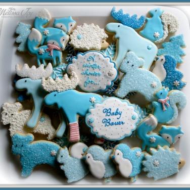 Woodland Baby Shower Cookie Platter