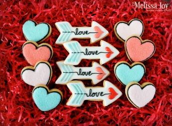 Heart and Arrow Set $16