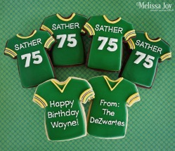 Packer Themed Cookies
