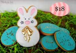Big Bunny wgold eggs-$18