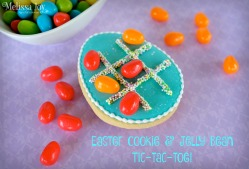 Tic-Tac-Toe Easter Cookie with Jelly Beans