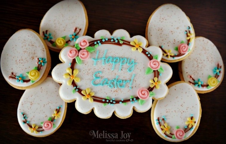 Vintage Easter Wreath & Egg Cookies
