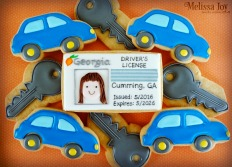 Driver's License Congrats Cookies