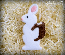 Vintage Easter Bunny Cookie with Basket